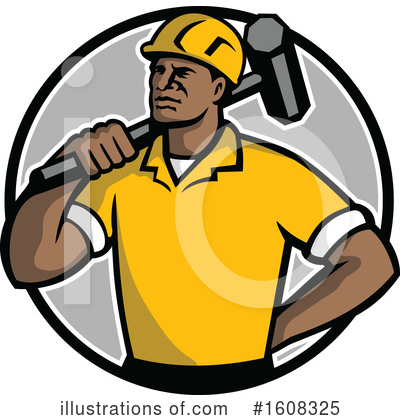 Royalty-Free (RF) Construction Worker Clipart Illustration by patrimonio - Stock Sample #1608325