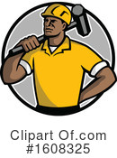 Construction Worker Clipart #1608325 by patrimonio