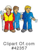 Royalty-Free (RF) Construction Worker Clipart Illustration #42357