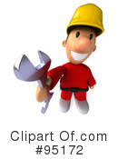 Construction Worker Toon Guy Clipart #95172 by Julos