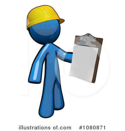 Contractor Clipart #1080871 by Leo Blanchette