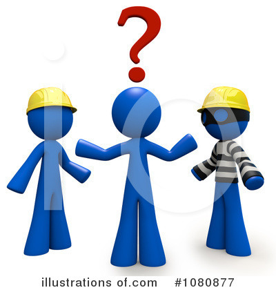 Royalty-Free (RF) Contractor Clipart Illustration by Leo Blanchette - Stock Sample #1080877