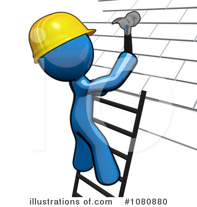Roofer Clipart #1080880 by Leo Blanchette
