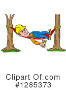 Royalty-Free (RF) Contractor Clipart Illustration #1285373