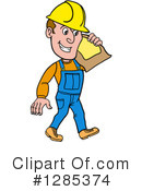 Contractor Clipart #1285374 by LaffToon