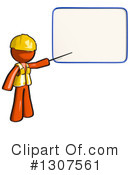 Contractor Orange Man Clipart #1307561 by Leo Blanchette