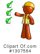 Contractor Orange Man Clipart #1307564 by Leo Blanchette