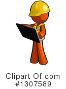 Contractor Orange Man Clipart #1307589 by Leo Blanchette