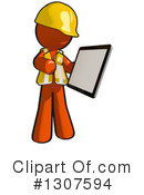 Contractor Orange Man Clipart #1307594 by Leo Blanchette