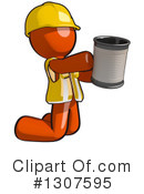 Contractor Orange Man Clipart #1307595