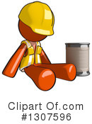 Contractor Orange Man Clipart #1307596