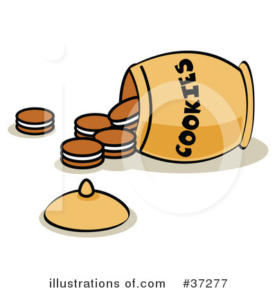 Royalty-Free (RF) Cookies Clipart Illustration by Andy Nortnik - Stock