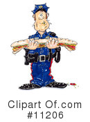 Royalty-Free (RF) Cop Clipart Illustration #11206