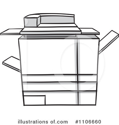Copier Clipart #1106660 by Cartoon Solutions