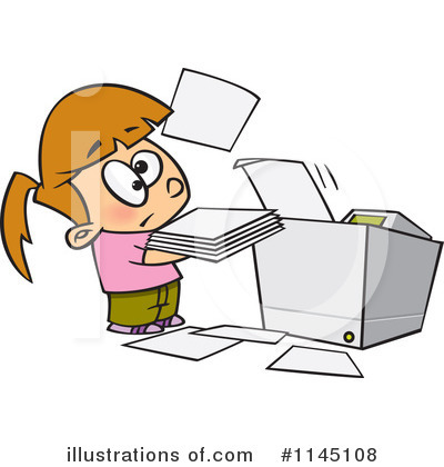Copier Clipart #1145108 by toonaday