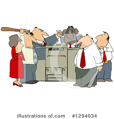 Royalty-Free (RF) Copier Clipart Illustration by djart - Stock Sample #1294034