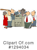 Royalty-Free (RF) Copier Clipart Illustration #1294034