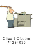Royalty-Free (RF) Copier Clipart Illustration #1294035