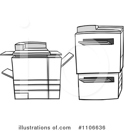 Copier Clipart #1106636 by Cartoon Solutions
