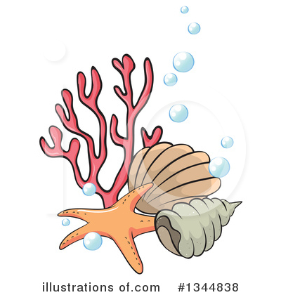 Sea Shells Clipart #1344838 by Graphics RF