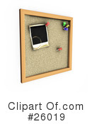 Royalty-Free (RF) Cork Board Clipart Illustration #26019