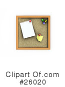 Royalty-Free (RF) Cork Board Clipart Illustration #26020