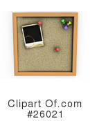 Cork Board Clipart #26021 by KJ Pargeter