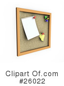 Royalty-Free (RF) Cork Board Clipart Illustration #26022