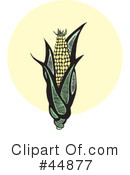 Royalty-Free (RF) corn Clipart Illustration #44877