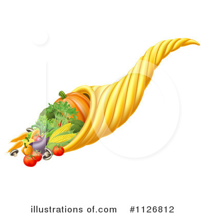 Royalty-Free (RF) Cornucopia Clipart Illustration by AtStockIllustration - Stock Sample #1126812