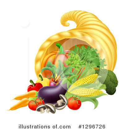 Royalty-Free (RF) Cornucopia Clipart Illustration by AtStockIllustration - Stock Sample #1296726
