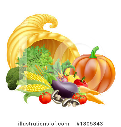 Thanksgiving Clipart #1305843 by AtStockIllustration
