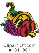 Royalty-Free (RF) Cornucopia Clipart Illustration #1311881