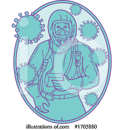 Royalty-Free (RF) Coronavirus Clipart Illustration by patrimonio - Stock Sample #1705880