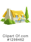 Cottage Clipart #1298462 by AtStockIllustration