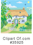 Cottage Clipart #35925 by Lisa Arts