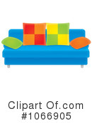Royalty-Free (RF) Couch Clipart Illustration #1066905