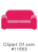 Couch Clipart #11563 by AtStockIllustration