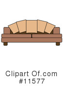 Couch Clipart #11577 by AtStockIllustration