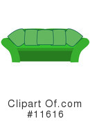 Couch Clipart #11616 by AtStockIllustration