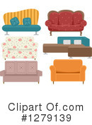 Couch Clipart #1279139 by BNP Design Studio
