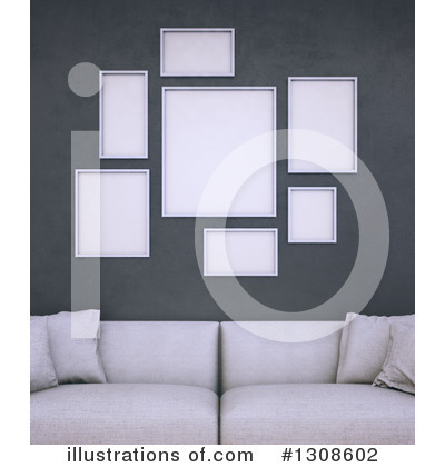 Living Room Clipart #1308602 by Mopic
