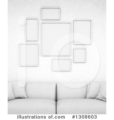 Living Room Clipart #1308603 by Mopic