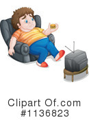 Royalty-Free (RF) Couch Potato Clipart Illustration #1136823