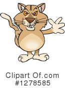 Cougar Clipart #1278585 by Dennis Holmes Designs