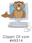 Cougar Mascot Clipart #49314 by Toons4Biz
