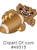 Cougar Mascot Clipart #49315 by Toons4Biz