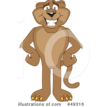 Cougar Mascot Clipart #49316 by Toons4Biz