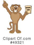 Cougar Mascot Clipart #49321 by Toons4Biz