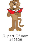 Cougar Mascot Clipart #49326 by Toons4Biz